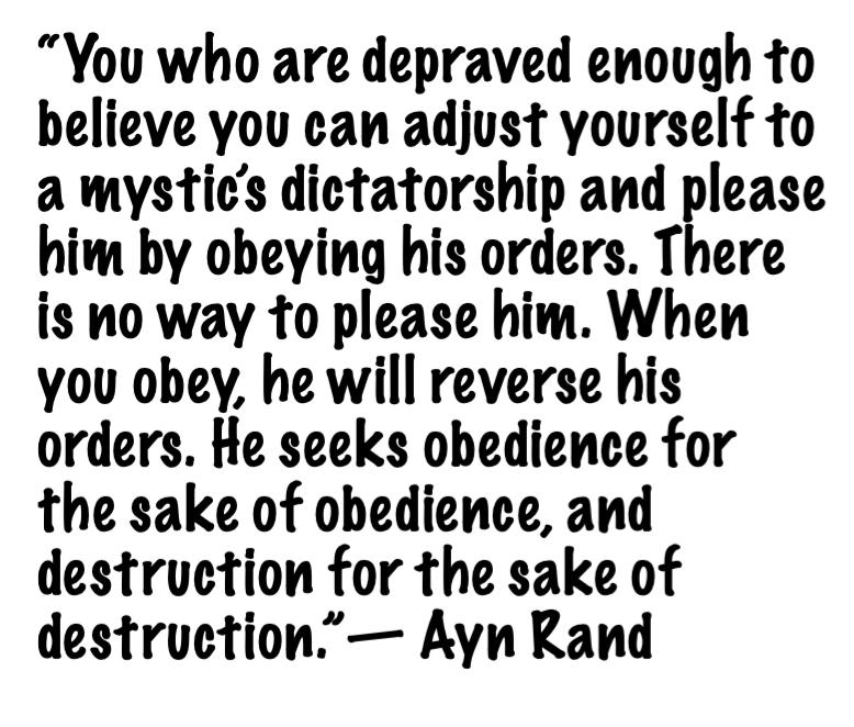 DEPRAVED-- ayn rand